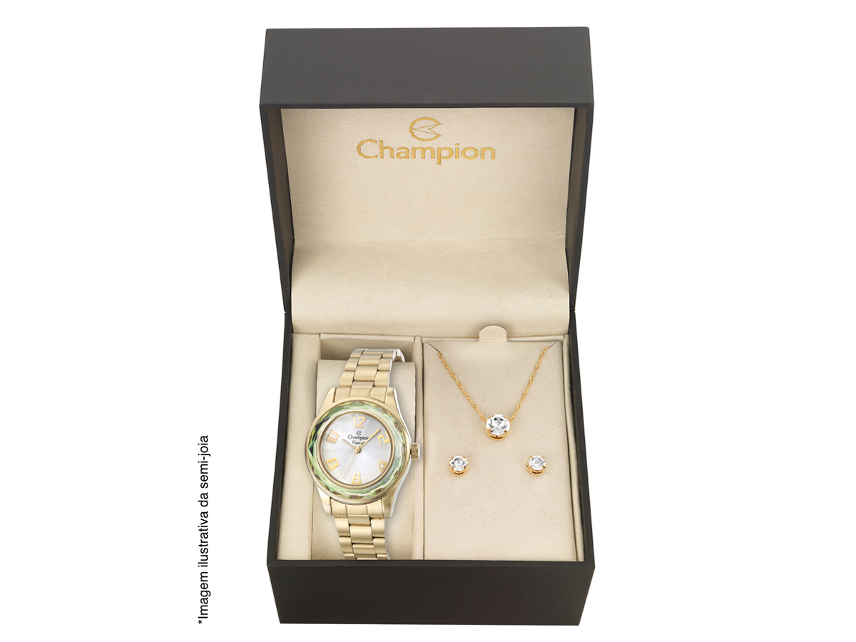 Relógio de Pulso KIT PRESENTES CN29990W - Champion Relógios