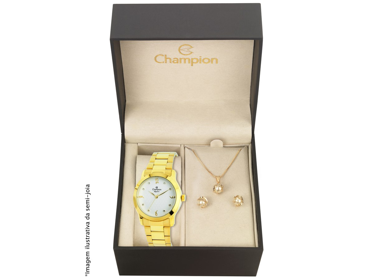 Relógio de Pulso KIT PRESENTES CN26411W - Champion Relógios