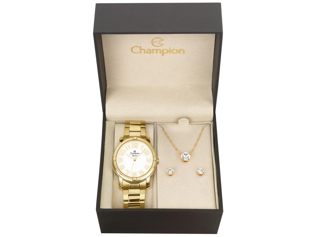 Relógio de Pulso KIT PRESENTES CN26457W - Champion Relógios