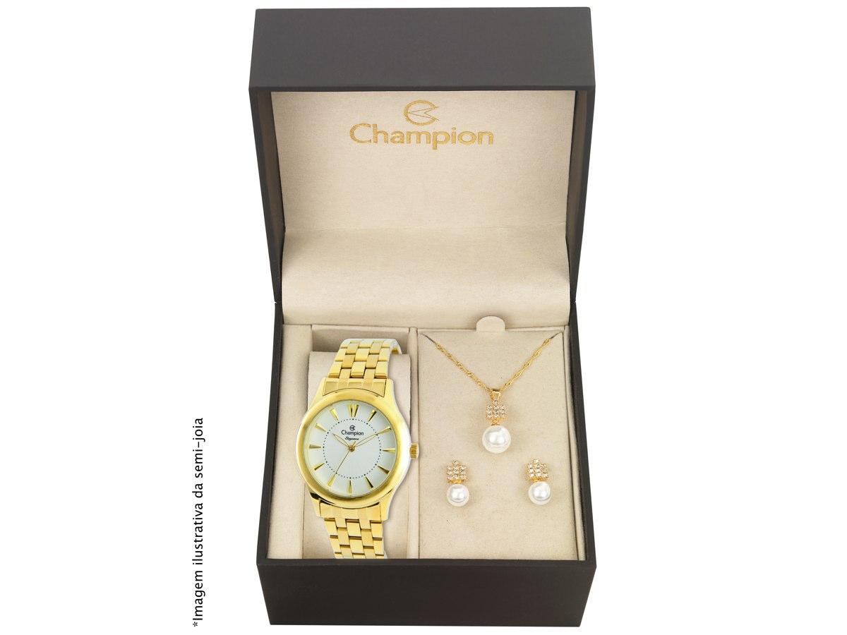 Relógio de Pulso KIT PRESENTES CN26475W - Champion Relógios