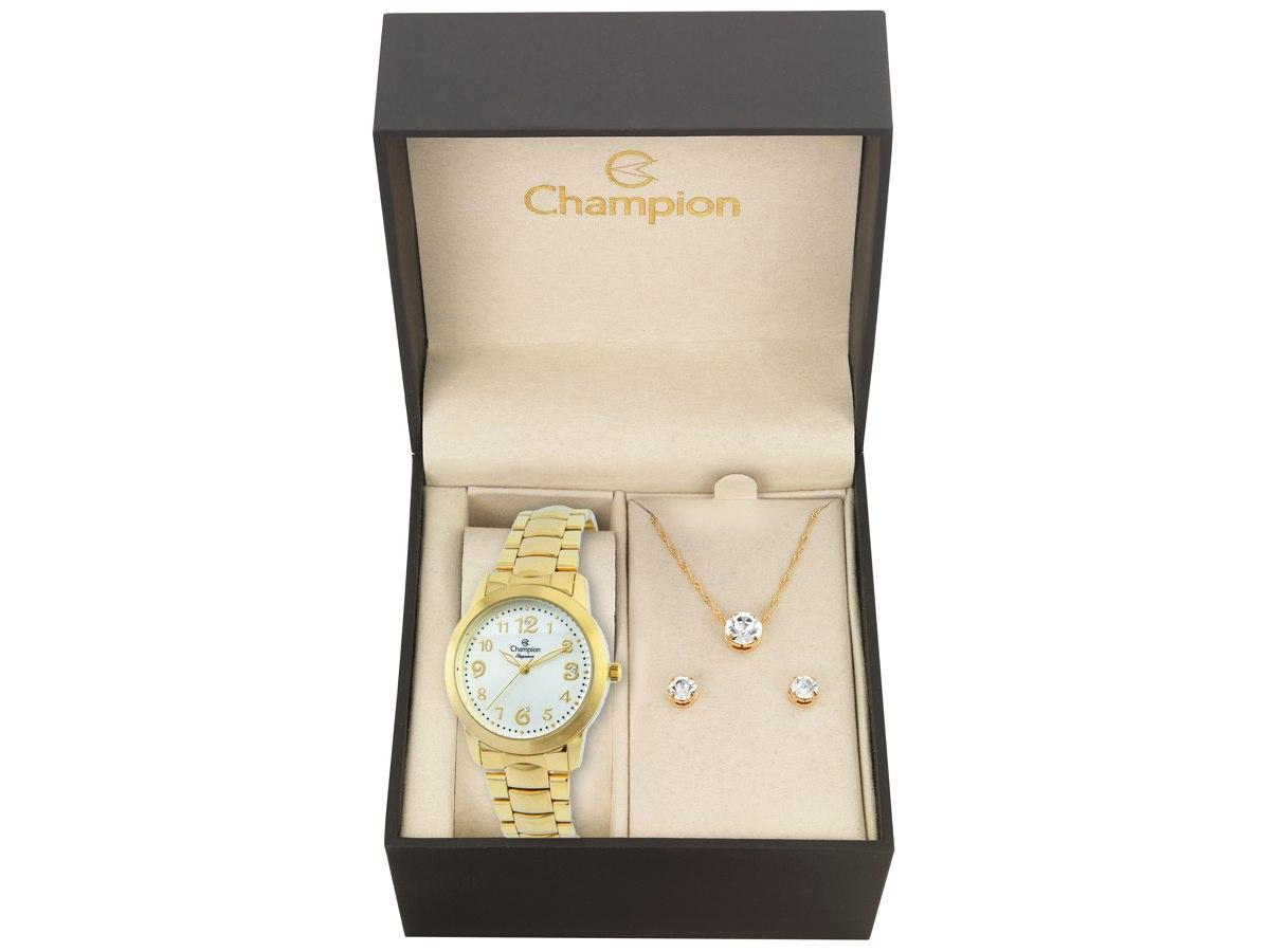 Relógio de Pulso KIT PRESENTES CN26500W - Champion Relógios
