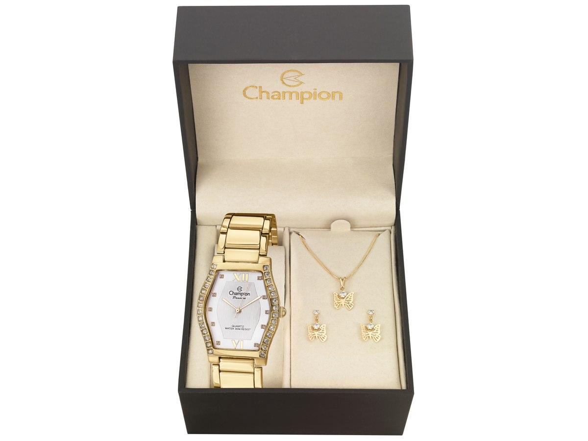 Relógio de Pulso KIT PRESENTES CN28624W - Champion Relógios