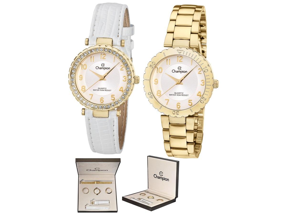 Relógio de Pulso KIT PRESENTES CN28759H - Champion Relógios