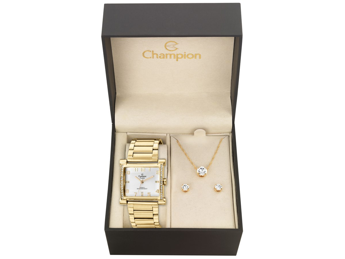 Relógio de Pulso KIT PRESENTES CN28768W - Champion Relógios