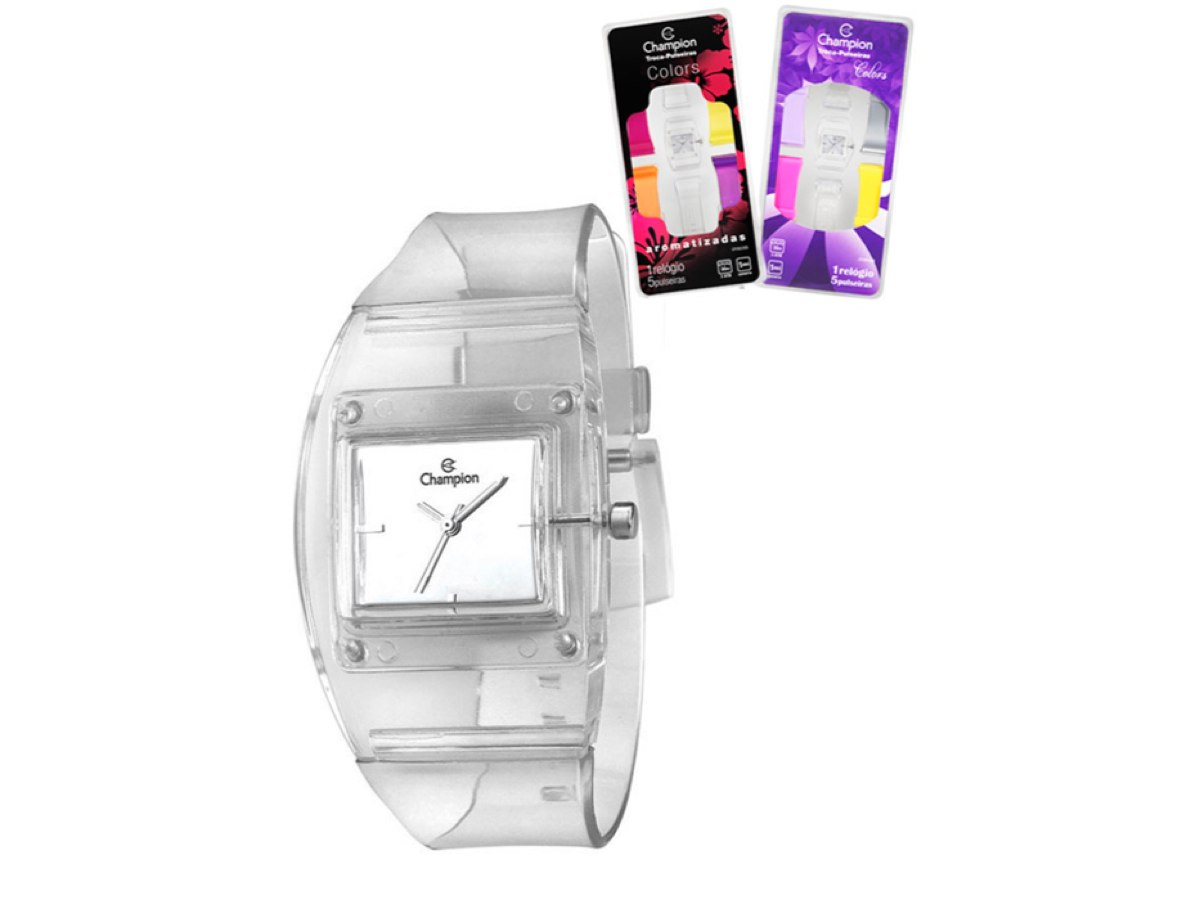 Relógio de Pulso TROCA-PULSEIRAS CP28220S - Champion Relógios
