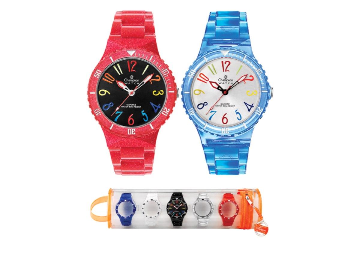 Relógio de Pulso TROCA-PULSEIRAS CP30182M - Champion Relógios