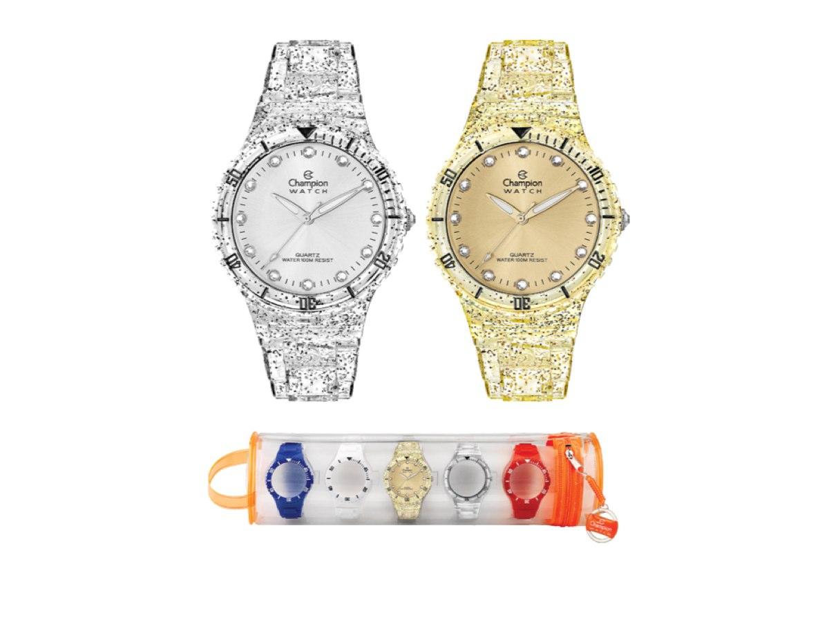 Relógio de Pulso TROCA-PULSEIRAS CP38086R - Champion Relógios