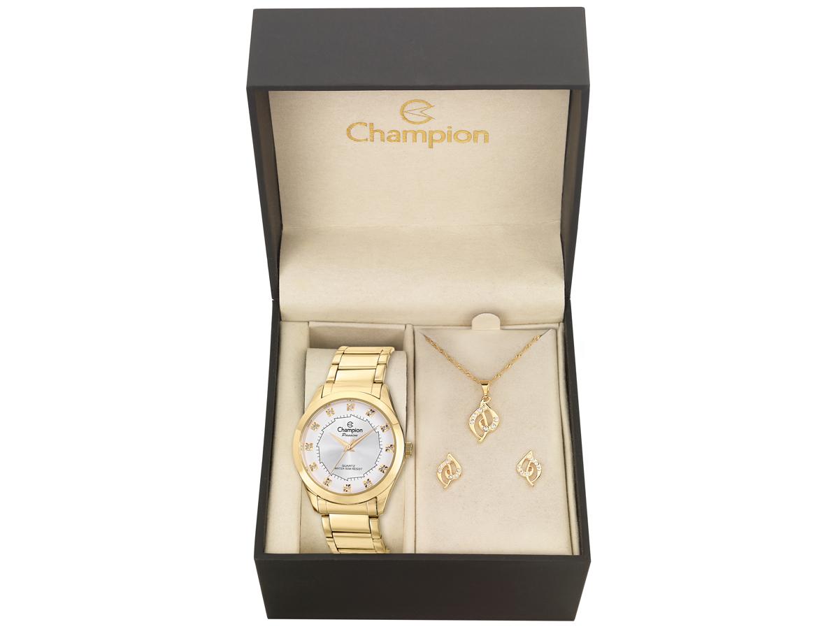 Relógio de Pulso KIT PRESENTES CH24759W - Champion Relógios