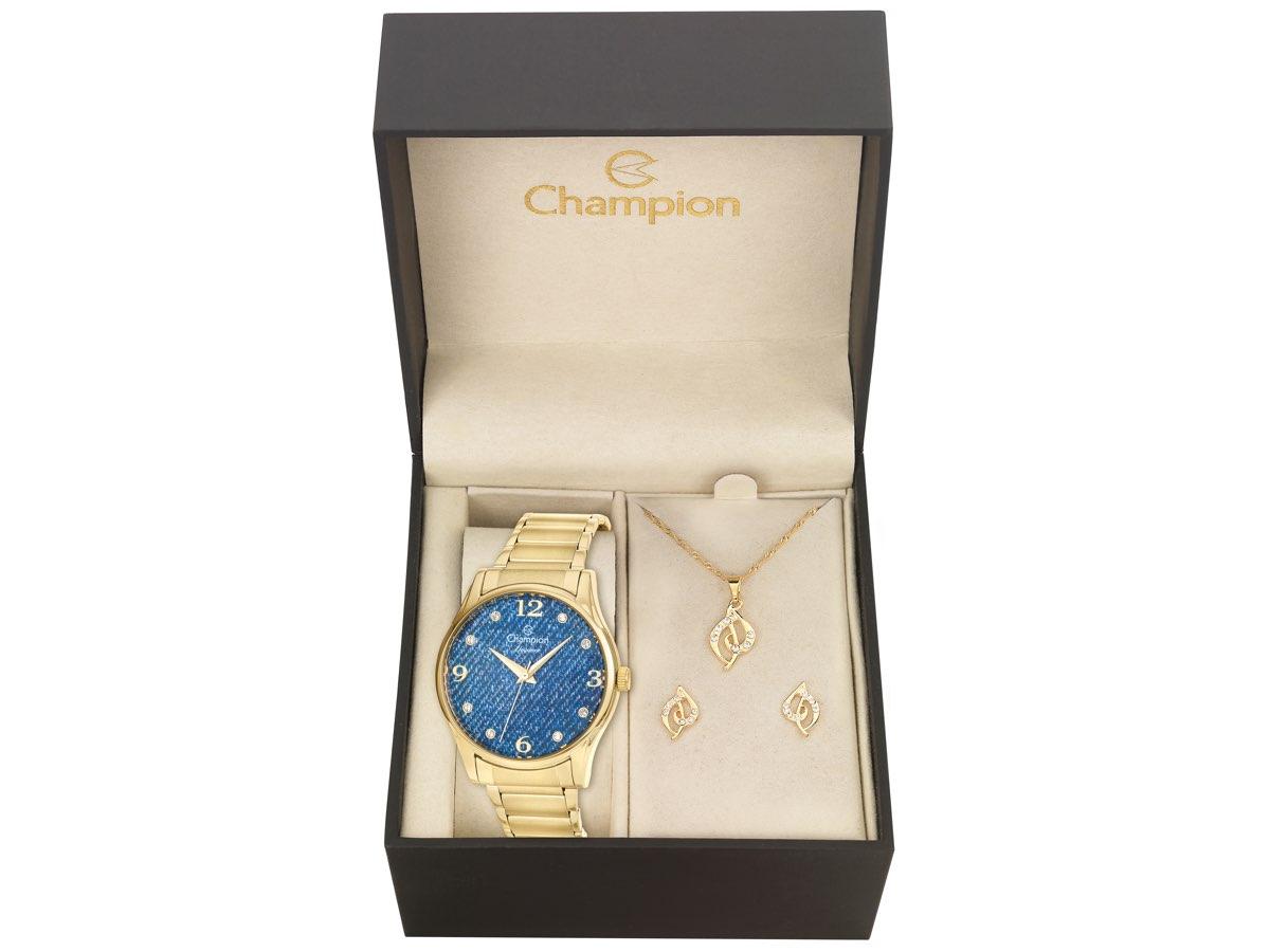 Relógio de Pulso KIT PRESENTES CN26975K - Champion Relógios